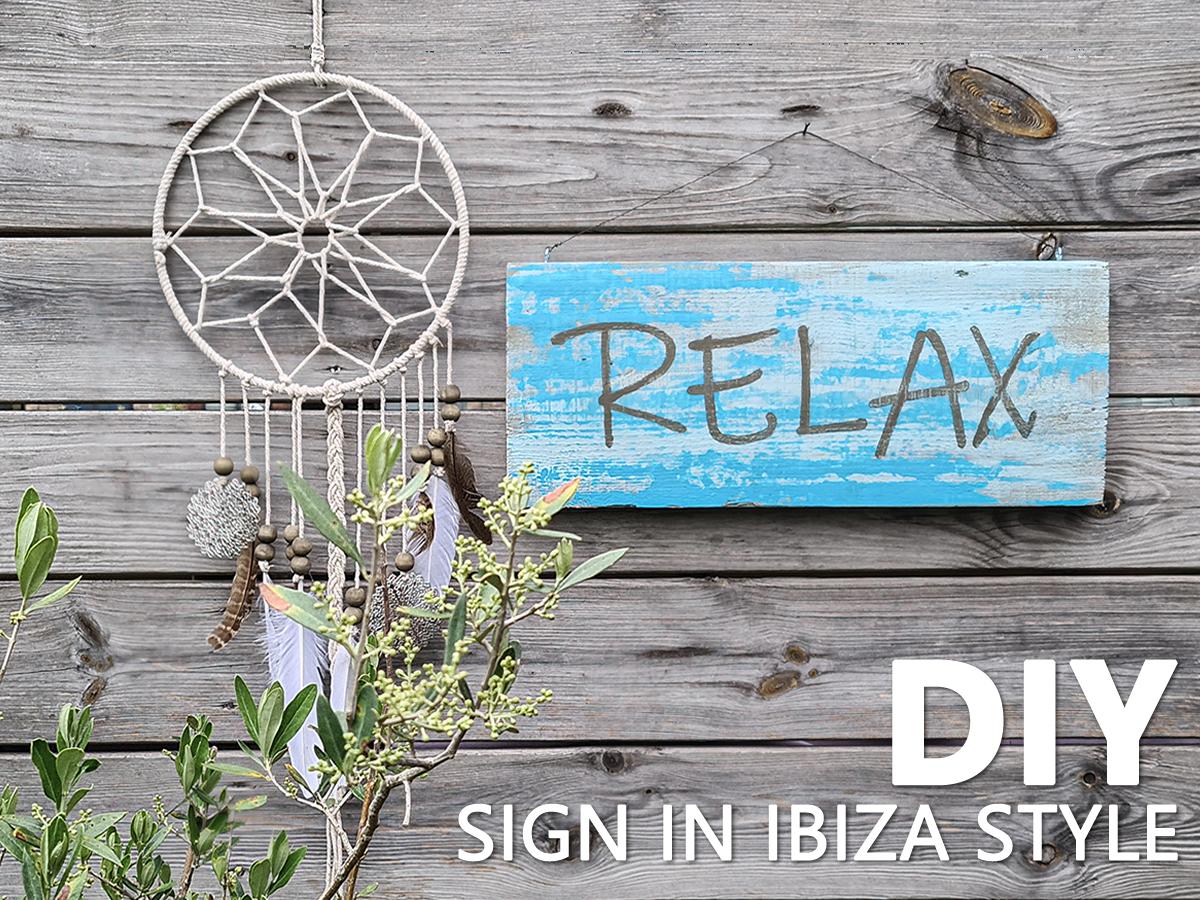 DIY tekstbord maken in Ibiza Stijl