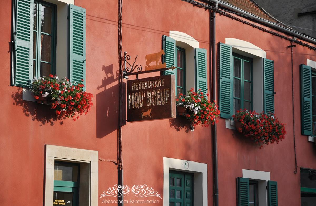 Franse huizen muurkleur Red Clay