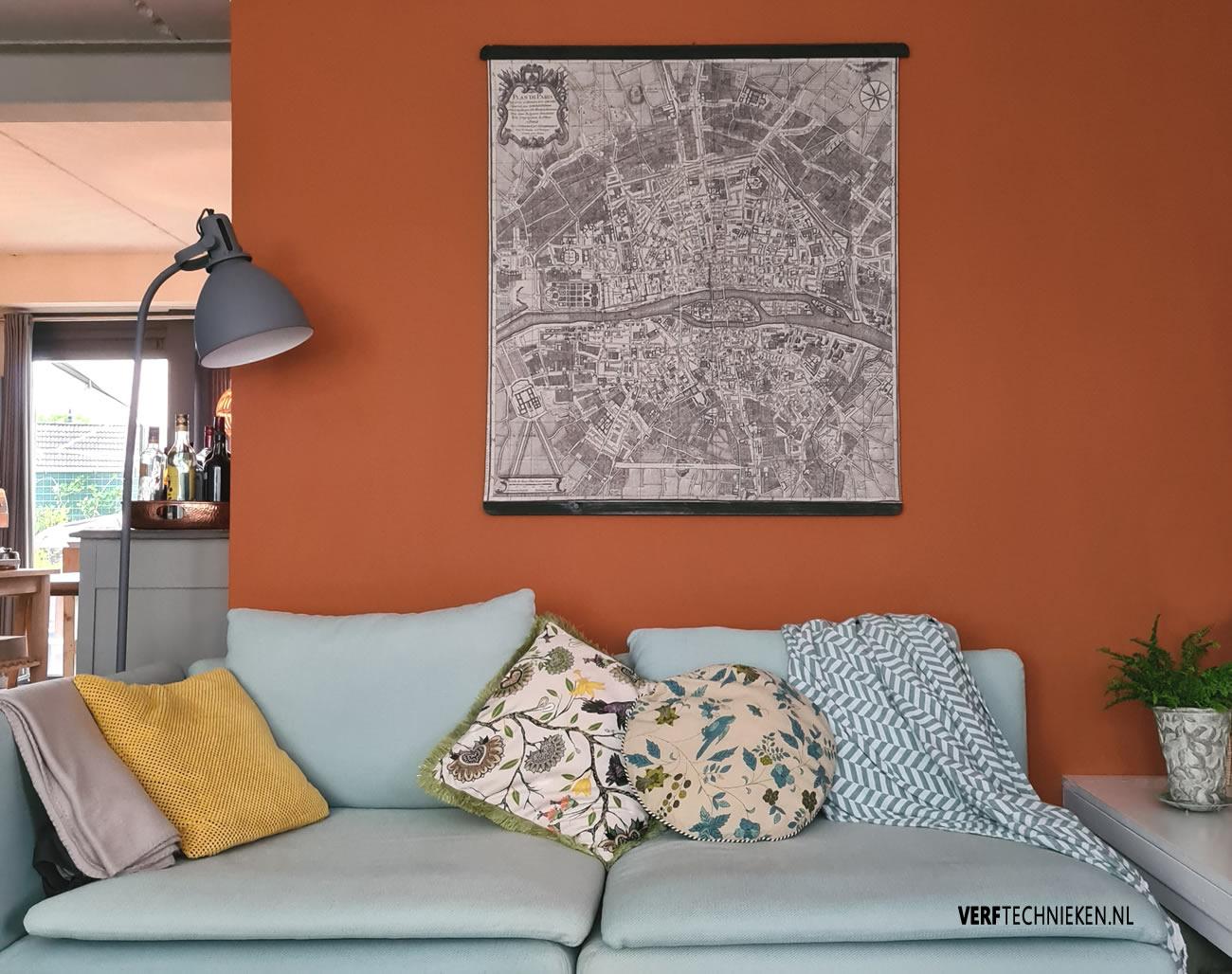 Abbondanza Terracotta krijtverf op de muur