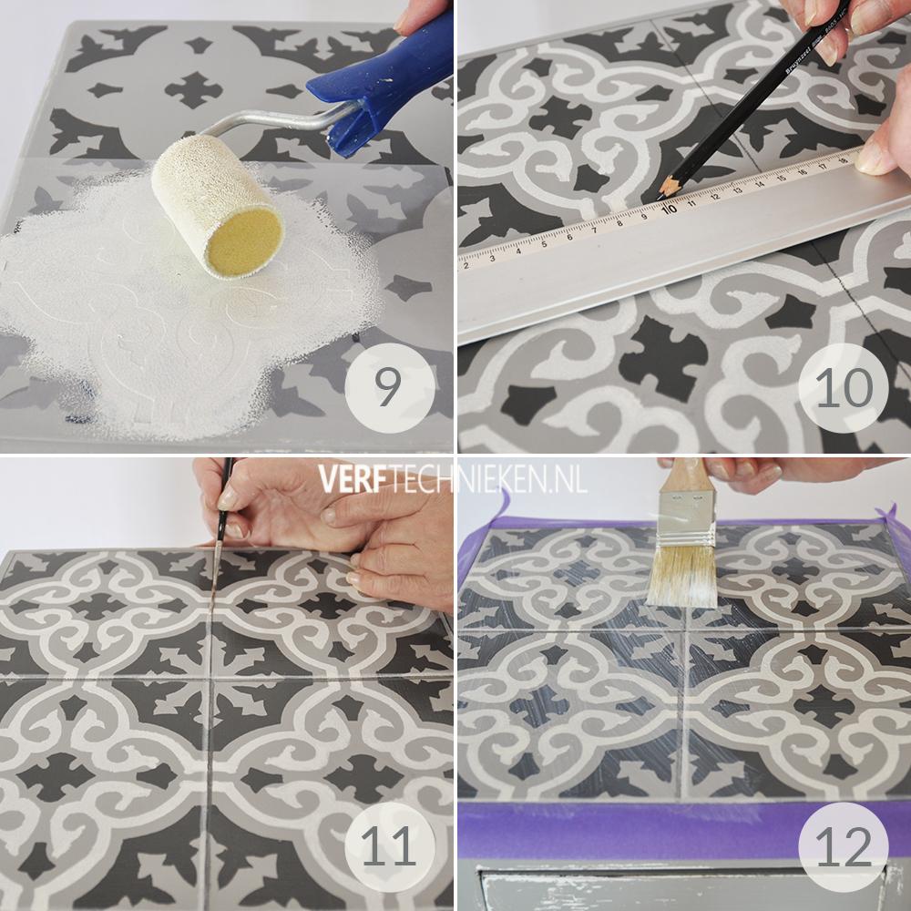 Stappenplan DIY Tegelpatroon stencillen