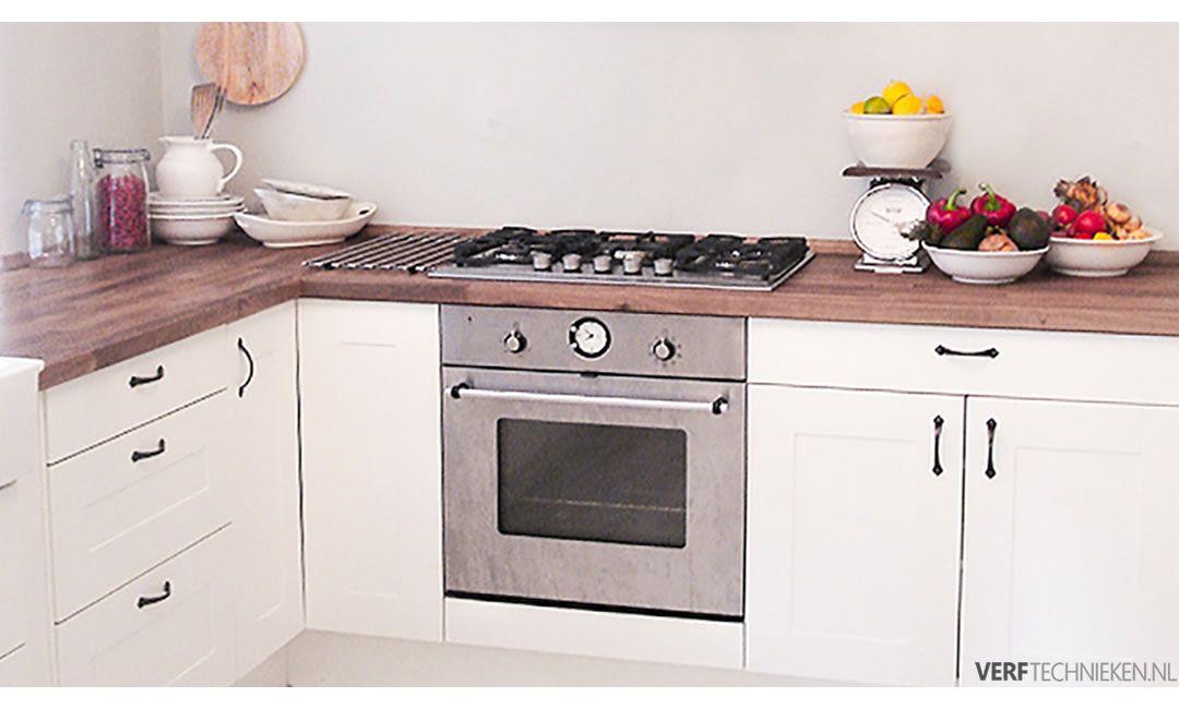 Keuken verven met lak Soft Silk
