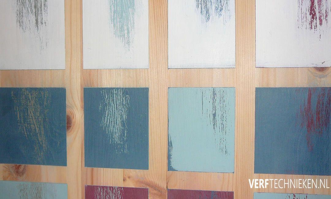 Krijtverf doorschuren kleurcombinaties
