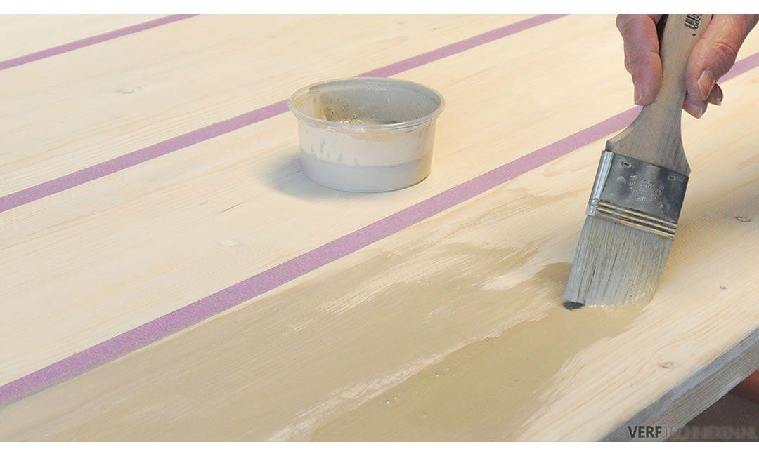 Steigerhout oud maken krijtverf wash Silt
