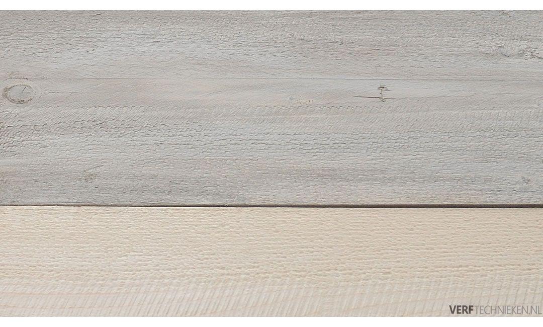 Steigerhout effect basis krijtverf wash Driftwood