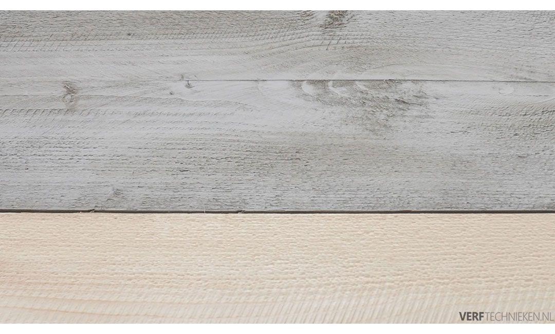 Steigerhout effect basis krijtverf wash Silt