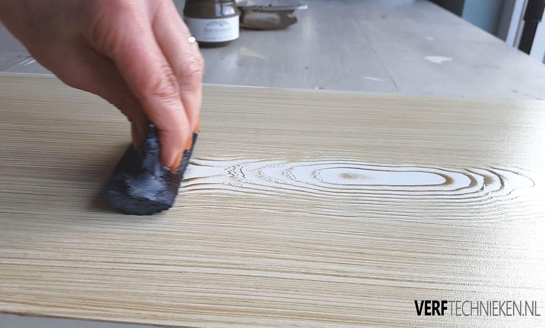 hout imitatie de houtnerver gebruiken