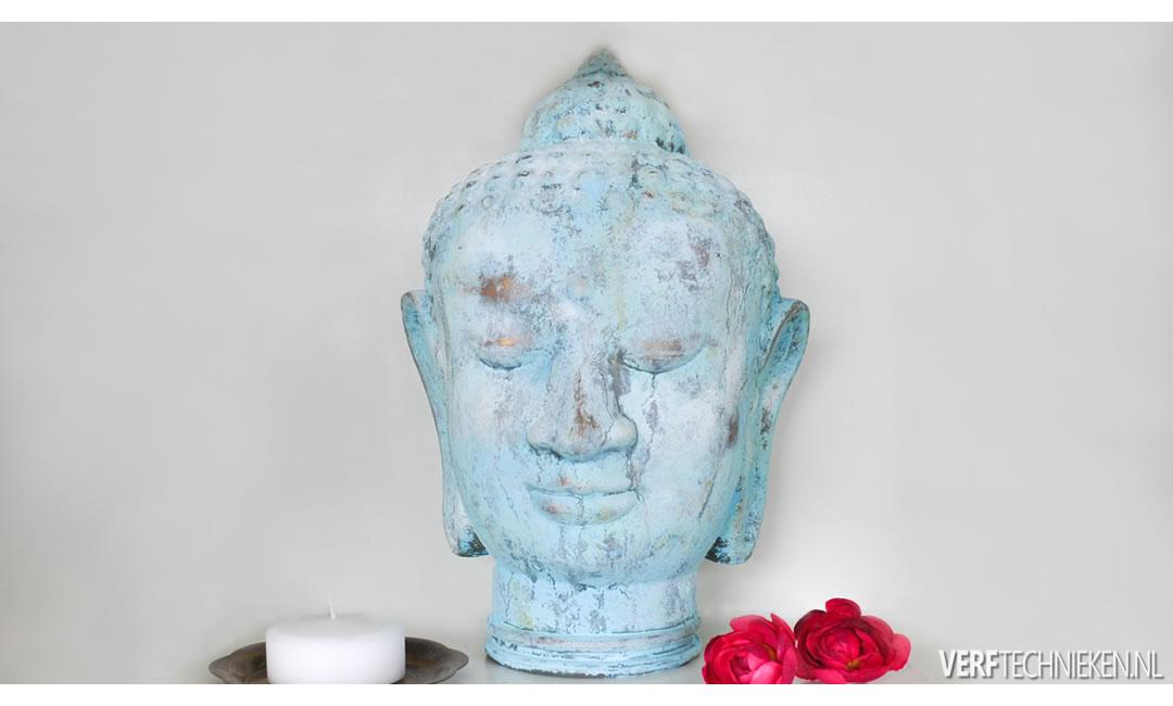 patina verdigris boeddha