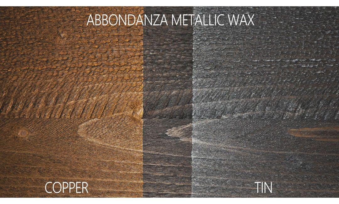 Stoer hout met Abbondanza metallic wax
