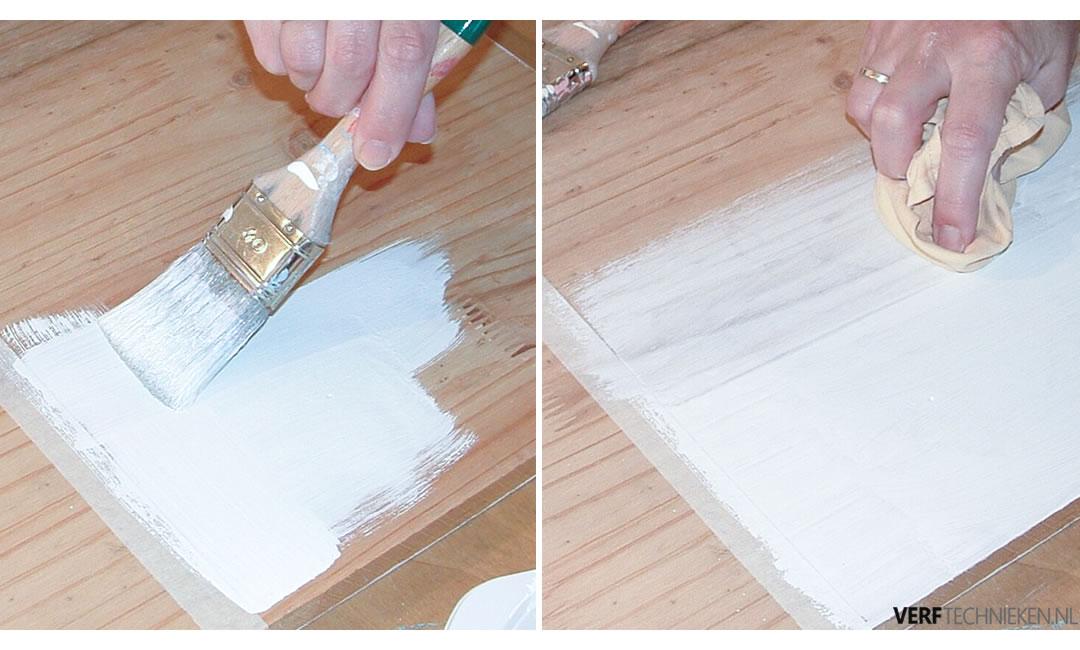 Krijtverf whitewash aanbrengen